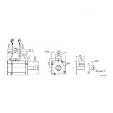 Kit Servo Motor Panasonic 2.4N.m - 750w Minas Liqi - Cabos De 5m