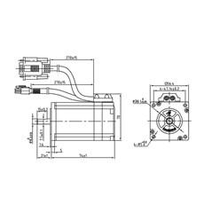 Motor de passo Leadshine com encoder NEMA 23 - 1.3 N.m - NEO-CS-M22313-ID