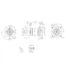 Redutor Planetário 1:20 PEII 090-020 - Padrão Fixação NEMA 34