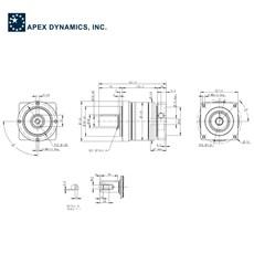 Redutor Planetário de Precisão (1:10) - PE II 120-010 - Apex Dynamics