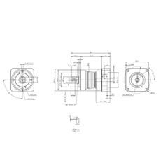 Redutor Planetário de Precisão (1:3) - PE II 050-003 - Apex Dynamics