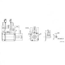 Servo Motor Panasonic - 400W 1.3N.m - MSMD042J1U